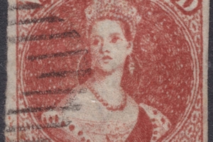 The one penny, full-faced Queen stamp is expected to fetch at least $10,000 at the auction.