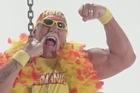 Hulk Hogan is fed up with web hosts that overcharge and under-deliver, so he's starting his own hosting company - powered by 24-inch pythons, brother. Courtesy: YouTube/Hostamania