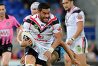 Konrad Hurrell in action for the Warriors. Photo /Getty Images