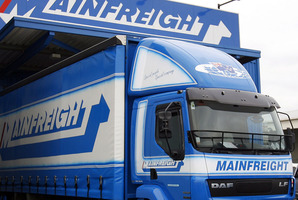Half year profits at Mainfreight rose to $41.8 million, or 41.72 cents a share, in the six months ended September 30, from $27.7 million, or 27.9 cents, a year earlier.