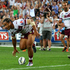 Steve Matai scores for Manly. Photo / Getty Images