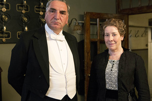 Jim Carter, left, as Carson and Phyllis Logan as Mrs Hughes from Downton Abbey. Photo / AP