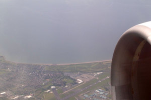 Prestwick Airport from the air. Photo / Simon WIlliams, Wikimedia Commons