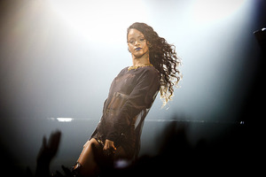 Rihanna performing at Vector Arena. Photo / Sarah Ivey