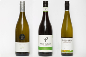 Cooper's Creek Allison Gisborne Marsanne, Peter Yealands Marlborough Pinot Noir and Wither Hills Marlborough Riesling 2012.