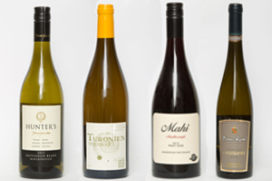 Hunter's Marlborough Sauvignon Blanc, Alexandre  Monmousseau Turonien Vouvray, France, Mahi Marlborough Pinot Noir and Bond Road Ormond Gisborne Gewurztraminer.