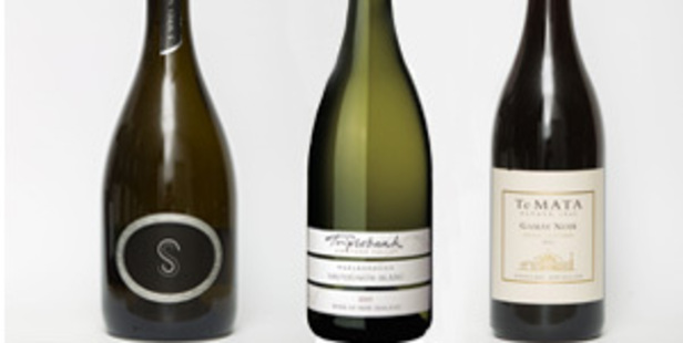 S-Series Moscato NV, Triplebank Awatere Valley Marlborough Sauvignon Blanc and Te Mata Estate Vineyards Hawke's Bay Gamay Noir.