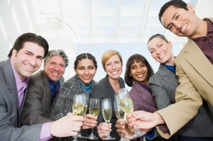 Alcohol supplied by the boss promotes team bonding, researchers say. Photo / Thinkstock