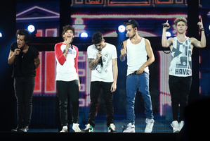 One Direction perform at Vector Arena in Auckland. Photo / Norrie Montgomery