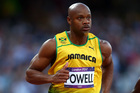 Former 100m world record holder Asafa Powell tested positive for a banned stimulant at the national trials in June. Photo / Getty Images
