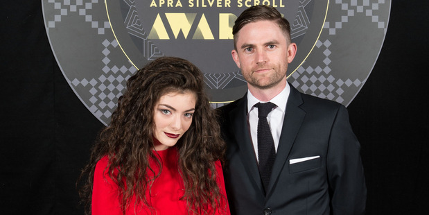 Lorde and Joel Little at the APRA Silver Scrolls Awards at Vector Arena in Auckland. Photo / Topic Photography