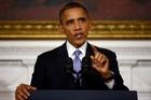 President Obama says the shutdown worsened the deficit. Photo / AP