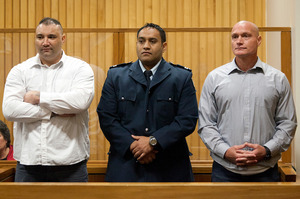 Sentencing of Witeri Neketai (left) and Joseph Rewiri for the murder of Gary Kimura. Photo/Andrew Warner