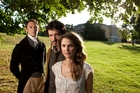 J.J. Feild, Bret McKenzie and Keri Russell star in the slightly silly Austenland.