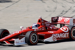 Scott Dixon out in front - and hoping to stay that way tomorrow. Photo / AP