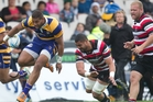 Steamers winger Tino Nemani skips out of a Counties Manukau tackle. Photo / File