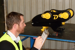 Doherty production manager Damian Conn gives the Snaplock+ final approval.