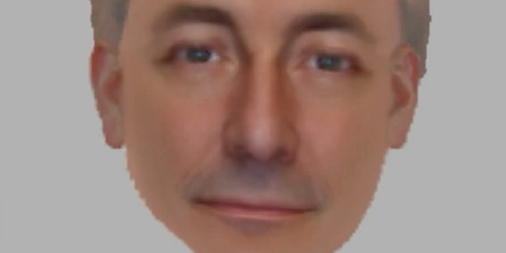 An image constructed by witnesses of a man the Metropolitan Police want to interview about the case.