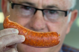 Kerry Tyack was the head judge of the 20th New Zealand Sausage competition. Photo / Brett Phibbs
