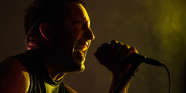 Trent Reznor performs with Nine Inch Nails at the Lollapalooza Festival in Chicago in August. Photo / AP