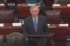 """Democratic leader Harry Reid says Senate leaders have reached a bipartisan deal to avoid default and end the government shutdown. His GOP counterpart Sen. Mitch McConnell says it's """"far less"""" than what his party wanted."""