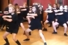 The New Zealand rugby league squad arrive in Doncaster ahead of their World Cup warm-up match on Sunday and are welcomed by children performing their haka. Video / Youtube.