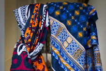 Two kitenges (African textile fabric). Photo / Sarah Ivey