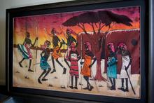 African painting of Masai warriors. Photo / Sarah Ivey