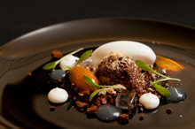 James Stapley's textures of chocolate and coconut. Photo / supplied.