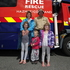 Katelyn Crowley, 7 (left), Kieran Crowley, 3, Jacqui Crowley, 5, Inge van Otterdyk and Grant Crowley. Photo / George Novak