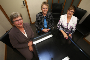 Tauranga City councillors Catherine Stewart (left), Gail McIntosh and Bev Edlin.