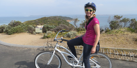 Rachel loved the freedom of travelling by bike.