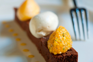 Otahuna Chef Jimmy McIntyre's Chocolate Torte. Photo / Supplied.