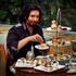 Colin enjoys high tea at Palazzo Versace. Photo / Natalie Slade
