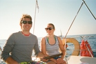 Andrew Potter and Joanna Partridge Sailing towards Gocek, Turkey. Photo / Andrew Potter