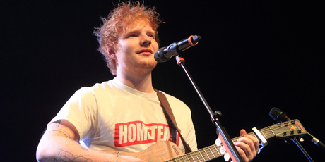 Ed Sheeran is on a the other on a secret mission. Photo / AP