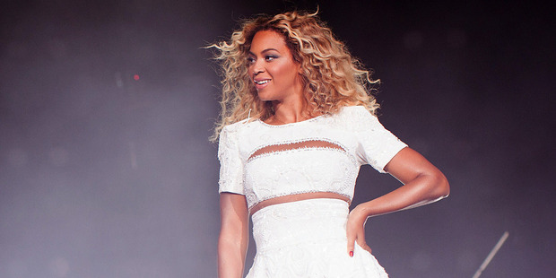 Singer Beyonce performing on her 'Mrs. Carter Show World Tour 2013'. Photo / Robin Harper