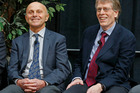 Nobel Prize winners Eugene Fama and Lars Peter Hansen of the University of Chicago.