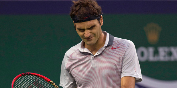 The defeat hurt the 32-year-old Federer's chances of qualifying for the season-ending ATP Finals. Photo / AP