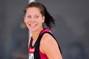 Midcourter Katarina Cooper could  make her debut for  the  Silver Ferns in the three-test series against Malawi. Photo / Richard Robinson