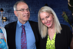 Len Brown with his wife Shan Inglis. Photo / Doug Sherring