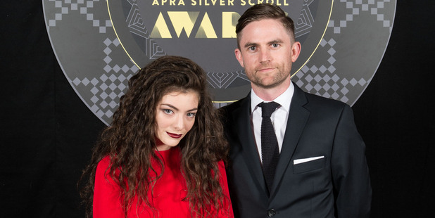 Lorde with Joel Little.