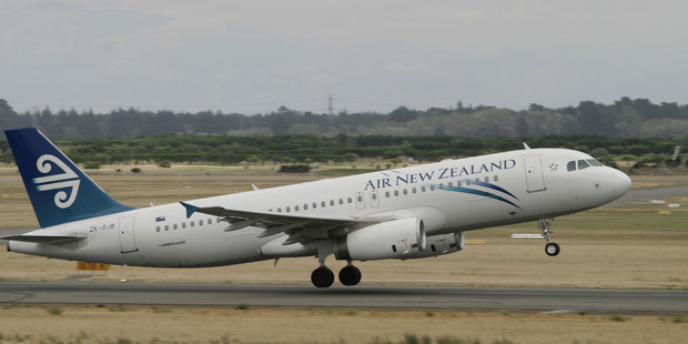 An Air New Zealand Airbus A320 lifts off from Christchurch International Airport. Photo / Geoff Sloan