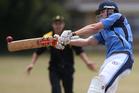 Te Puke Club skipper Mitch McCann top-scored with a neat half century. Photo / Joel Ford