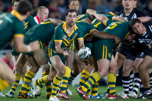 Australia's Cameron Smith in action against the Kiwis. Photo / Brett Phibbs