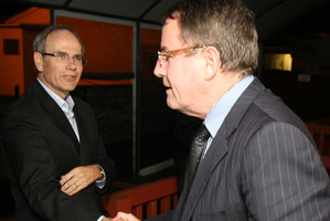 Len Brown (left) and John Banks. Photo / Greg Bowker