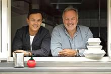 Jonathan Rutherfurd-Best and Andrew Glenn run The Oyster Inn.