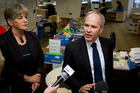 Auckland Mayor Len Brown (R) and Deputy Mayor Penny Hulse. File photo / Sarah Ivey