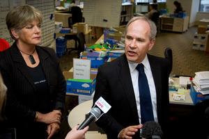 Auckland Mayor Len Brown (R) and Deputy Mayor Penny Hulse. File photo / Sarah Ivey