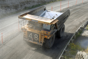 A  Solid Energy truck working at Rotowaro Mine.  Photo / Ross Setford